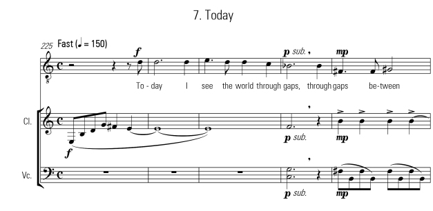 """Today"" lyrics by Ainsley Kelly."